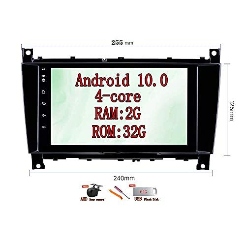 W-bgzsj Android 10.0 per Mercedes-Benz Mercedes-Benz Classe C W203 CLK W209 CLS W219 G Class Car Audio Stereo Headunit Radio 8'Navigazione GPS Bluetooth Controllo del Volante (10) (261) (Color : 255)