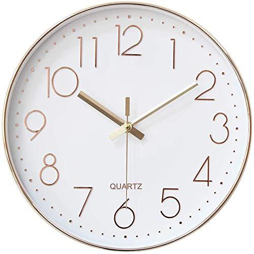 【最新版】掛け時計 電波時計 壁掛け 時計 おしゃれ 静か 電波 北欧 連続秒針 静音 壁掛け時 自動受信 リッピング 掛時計 インテリア 大数字 見やすい 30cm