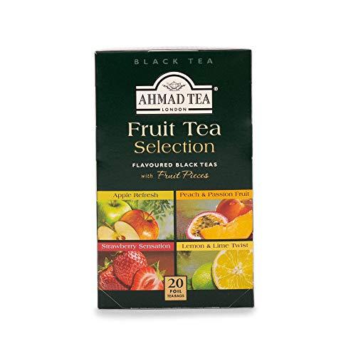 Ahmad Tea Fruit Tea Selection Schwarzer Tee mit verschiedenen Frucht-Geschmack, 40 g (20x2g)