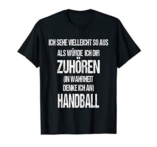 Handball Zuhören Witzige Lustige Weihnachts Geschenk Idee T-Shirt