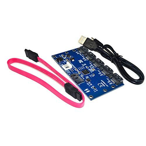 zNLIgHT PC-accessoires | Vervangende SATA 1 tot 5 Harde Schijf Adapter PC Moederbord Expansie Kaart OneSize Onecolor