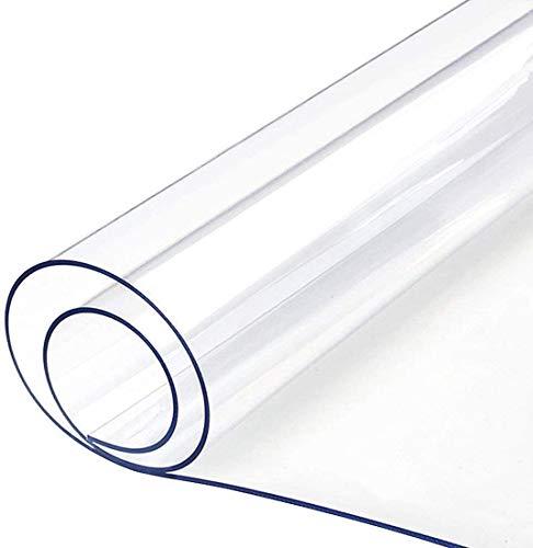 透明 テーブルクロス Timoise PVC製 ビニールマット 防塵・防水・耐久・耐熱 テーブルマット 矩形 テーブルカバー サイズ選択可能