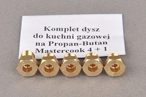 Gasherd Gaskochfeld Ersatzdüse Gasdüse für Propan Butan (LPG) - MASTERCOOK