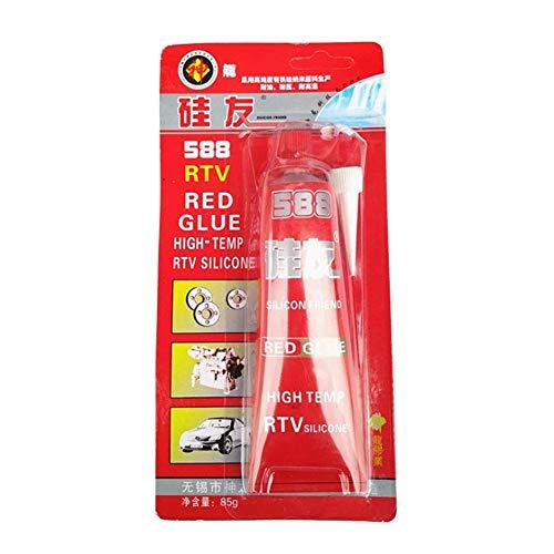 Liery 85g Starker Kleber Hochtemperatur-Dichtstoff RTV Roter Befestigungskleber Für Reparaturwerkzeuge Für Motor Gap-Dichtungen
