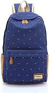 Polka Dots Backpack Fashion Shoulder Bag for Women(Canvas Blue)