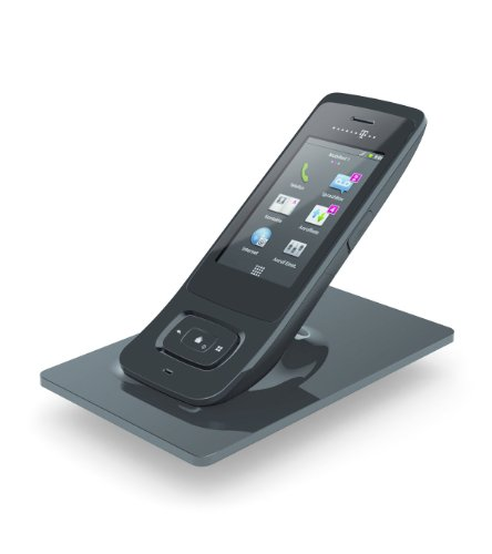 TELEKOM Speedphone 700 schwarz Android-DECT-Mobilteil Fuer W723V/W921V Nutzung von interaktiven Internet-Diensten Touchscreen
