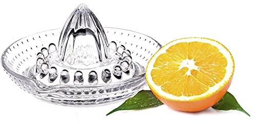 WisyLLC Exprimidor de limón naranja cítrico, exprimidor manual con vidrio