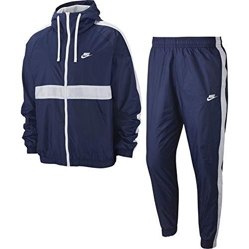 Nike Mens Sportswear Tracksuit, Midnight Navy/White, S