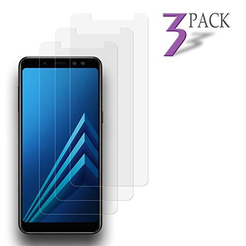 Le Destin【3 Stück Panzerglas Schutzfolie für Samsung Galaxy A8 2018, Panzerglasfolie für Samsung Galaxy A8 2018, [9H Festigkeit] [Anti-Kratzer][Blasenfrei], Galaxy A8 2018 Bildschirmchutzfolie