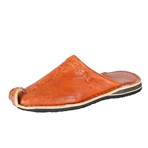 albena Marokko Galerie Unisex marokkanische Schuhe Leder Pantoffel Aladin (39, Terra)