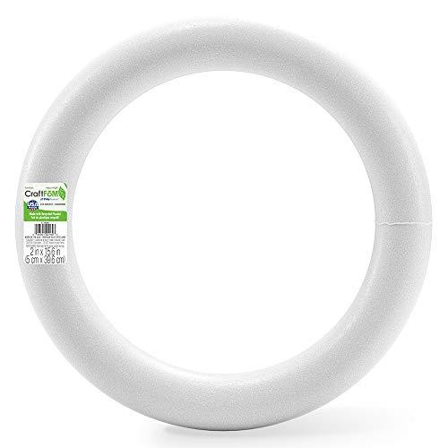 "FloraCraft XT16W Extruded Styrofoam Wreath, 16"""