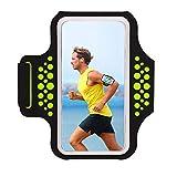 HAISSKY Fascia da Braccio Sportiva Universale con Cinturino Regolabile per Smartphone Meno di 6.0 Pollici Come per iPhone X/ 8 Plus /7Plus /6 Plus/ 6s Plus Samsung Galaxy S5 S6 S7 Edge Note 5, Note 8