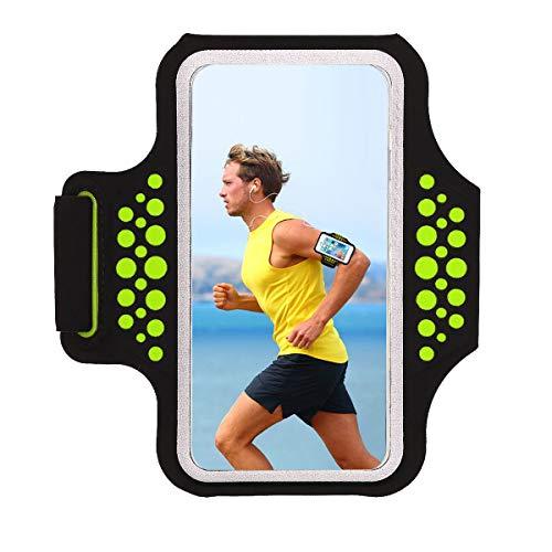 HAISSKY Fascia da Braccio Sportiva Universale con Cinturino Regolabile per Smartphone meno di 6.2 pollici come per iPhone X/XS/XS Max/8 Plus,Galaxy S5 S6 S7 Edge Note 5, Note 8