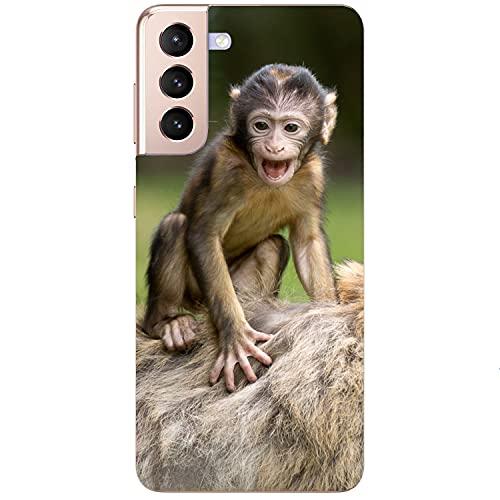 Generisch Funda blanda para teléfono móvil, diseño de mono sonriente para Apple Xiaomi Huawei Honor Nokia One Plus Oppo ZTE Google, tamaño: Apple iPhone 12 Pro Max