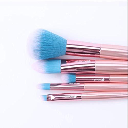 Pinceaux Maquillage 8pcs pinceaux de beauté professionnels, avec des poils synthétiques et végétariens pour toute la cohérence (poudre, crème et liquide)
