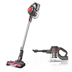 [Super Long-lasting Battery & Powerful Suction]: Outstanding 20-28mins CORDLESS running time ensures thorough cleaning all around the house. The upgrade version provides 120-watt powerful suction to meet every cleaning demands, picks up debris and du...