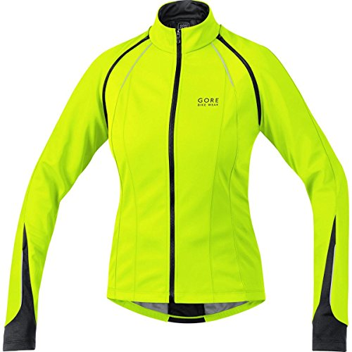 GORE BIKE WEAR 3 in 1 Damen Soft Shell Rennrad-Jacke, GORE WINDSTOPPER, PHANTOM LADY 2.0 WS SO Jacket, Größe: 38, Neon Gelb/Schwarz, JWPHAL