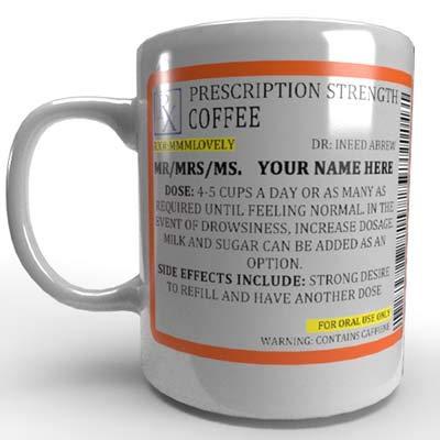 Personalised Prescription Coffee Mug Gift Novelty Funny Mug Present Cup