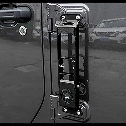 YFBB Directo para Coche, Material de Metal con Escalera de Mano Plegable para Puerta Delantera de Coche multifunción con, para Jeep Wrangler JL