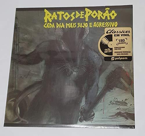"""Ratos de Porão, LP """"Cada Dia Mais Sujo e Agressivo""""- Série Clássicos em Vinil [Disco de Vinil]"""