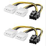 NEYOANN 2 Paquete de 8 Pines PCIe de Doble 4 Pin Molex Cable de AlimentacióN PCI-e de 8 Pines una 4 Pines GráFicos de Doble Cable de AlimentacióN Tarjeta de VíDeo Cable Energía EléCtrica