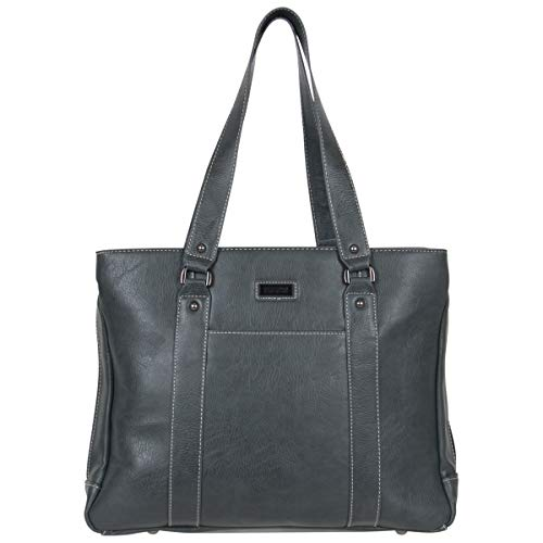 Kenneth Cole Reaction Women's Hit Pebbled Faux Leather Triple Compartment 15' Laptop Business Tote