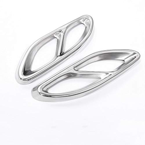 LQIAN Rüsten Sie Sich Fit for Mercedes Benz GLC GLE GLS A B C E-Klasse C207 W205 Coupe W176 W212 W213 Auto Auspuff Soziusabdeckung Trim Autoteile (Color Name : Silver)