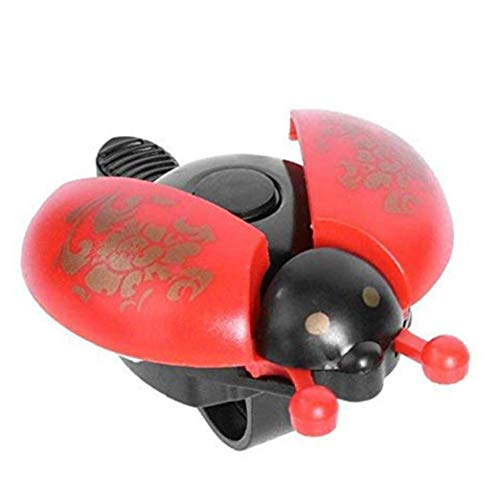 Ibely 1pc Universal Bright Colored Beetle Shape Bell Cartoon Bike Handlebar Bell Bicycle Accessories Red