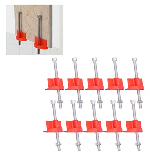 Ajustador de altura de baldosas, clips de nivelación de baldosas de alta resistencia Rápido y fácil de transportar para la línea de esquina superior para ladrillos de pared elevados