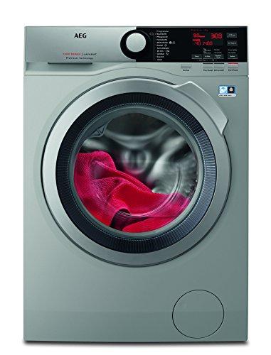 AEG L7FE74485S Waschmaschine / ProSteam -Auffrischfunktion / 8,0 kg / Leise / Mengenautomatik / Nachlegefunktion / Kindersicherung / Schontrommel / Allergikerfreundlich/ Wasserstopp/1400 U/min
