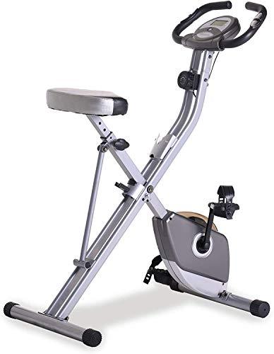 Bicicleta de ejercicio en bicicleta de ejercicio con un entrenamiento de brazos robustos, bicicleta estática, bicicleta plegable bicicleta de ciclismo indoor en casa,Grey