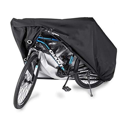 NINGWXQ Mountain Bike Kleding Outdoor Waterproof Rain Bicycle Cover Garden Furniture Cover, 4 Maten (Color : Black, Size : 200x70x110cm)