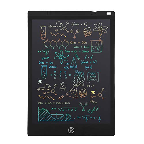 LCD Writing Tablet, Electronic Digital Writing &Colorful Screen Doodle Board, cimetech 12-Inch Handwriting Paper Drawing Tablet Gift for Kids and Adults at Home,School and Office (Black)