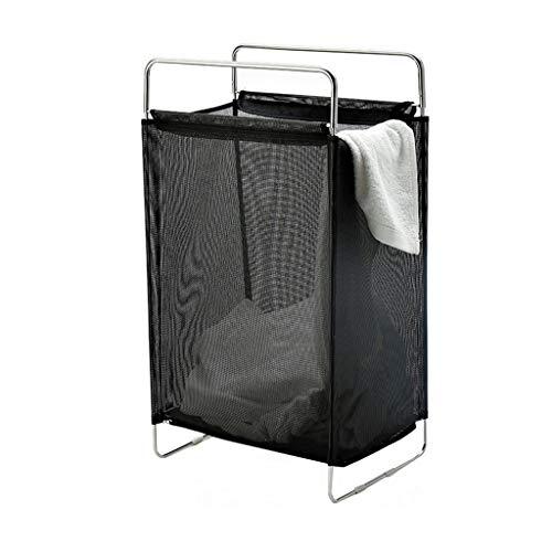 ANQIY Baño Cesto De La Ropa, Caras De Malla Cubo De Ropa Sucia Portátil (70 Cm × 40 Cm × 27 Cm, Negro/Gris) Utilizado for El Baño Cesto para Guardar (Color : Negro)