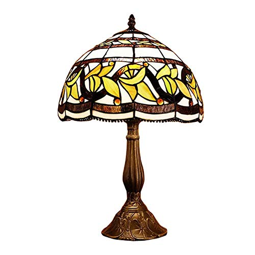 HDDD tafellamp in Tiffany-stijl, retro gas, voor café, bar, studio, slaapkamer, bedlampje, bedlampje, nachtlampje, nachtlampje, 12 inch