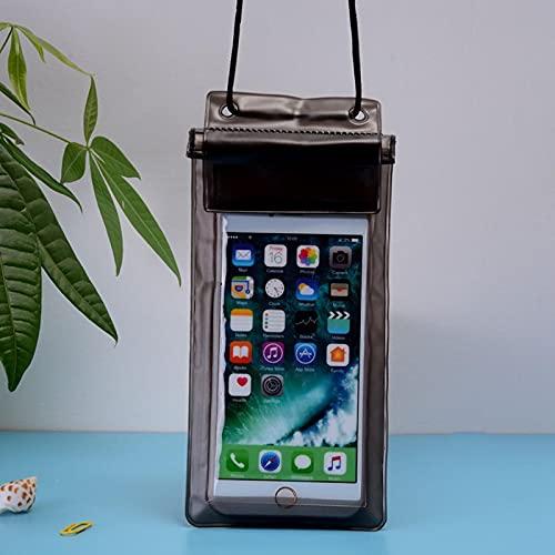 Bolsa impermeable para natación, bolsa impermeable, bolsa de secado subacuático, funda para teléfono móvil, apta para menos de 6 pulgadas, color negro