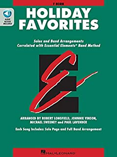 Essential Elements Holiday Favorites: F Horn Book with Online Audio