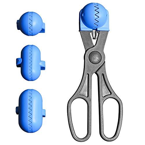 La Croquetera-Utensile Multiuso con 4stampi intercambiabili per Pasta (crocchette, polpette, Palline, Sushi), Colore: Blu, Brevettato e Prodotto in Spagna