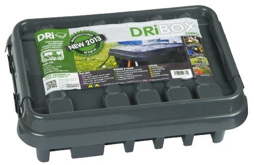 Dri-Box FL-1859-285 IP55 Weatherproof Box, Black, Medium