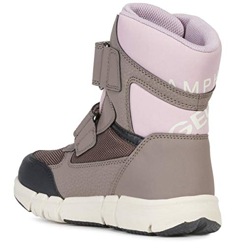 Geox Mädchen High-Top Sneaker FLEXYPER Girl ABX, Kinder Sneaker,Sportschuh,Sneaker-Stiefelette,mid-Cut,atmungsaktiv,Smoke Grey/Old Rose,39 EU / 6 UK