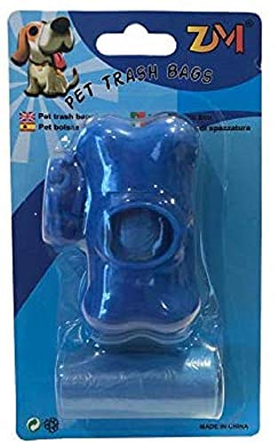 Pet Supply Dog Waste Poop Bags with Leash Clip and Dispenser (Blue)