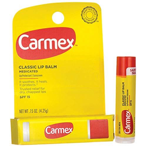Carmex Classic Lip Balm Medicated SPF 15 0.15 oz (Stick in Carded box)