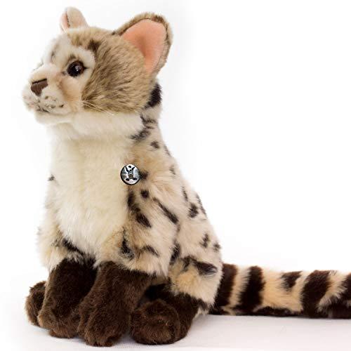 Ginsterkatze GENETTA Katze Schleichkatze Bengalkatze Wildkatze Plüschtier von Kuscheltiere.biz