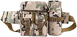 Waist Pack Pouch With Water Bottle Pocket Holder Hip Belt Bag Outdoor Pack for Hiking Camping Hunting Fishing Traveling 002