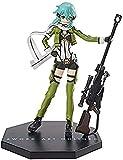 Anime Model Sword Art Online Anime Figura Figura Acción Ggo Sinon 20cm Figura COLECCIÓN Adornos Decoración Estatua Modelo Niños Doll Doll Gift (Color: Sineon)