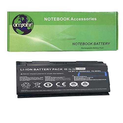 amsahr P150HMBAT-8-03 Ersatz Batterie für Clevo P170EM (14.8V, 5200MAH, 76.96WH) schwarz