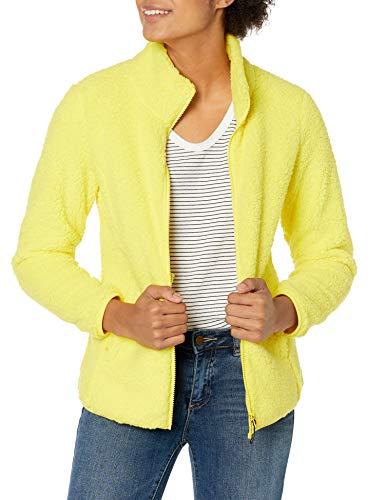 Amazon Essentials Polar Fleece Lined Sherpa Full-Zip Jacket Fleecejacke, Kräftiges Gelb, L