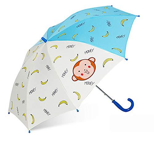 qqyz Kinderparaplu Cartoon Kinderparaplu Basisschool Regenboog Paraplu Mini Pocket Paraplu Familie Regenkleding
