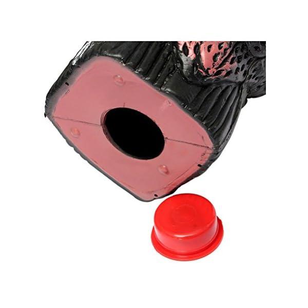 OUNONA Buho espantapájaros Bubo Pest Disuasión con cabeza giratoria para protección de espacios exteriores