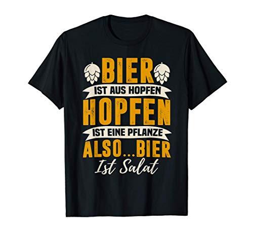 Bier ist Salat - Lustig Bierliebhaber Bier Hopfen T-Shirt